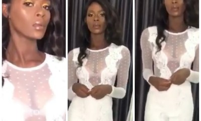 BBNaija: Khloe slays on see through white gown - Watch video
