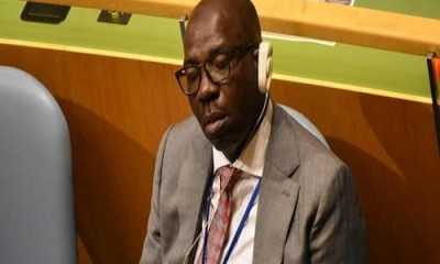 ''He is human'' Edo state govt reacts to trending photos of the state governor, Godwin Obaseki, sleeping at UN general Assembly