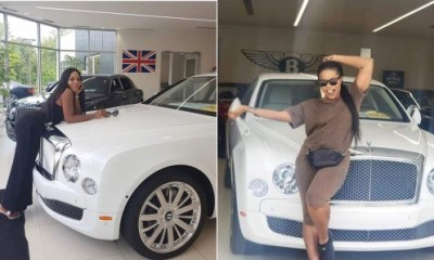 See the N120m Bentley car Linda Ikeji bought for her son, Jayce Jeremi (Photos+Video)