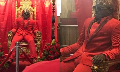 Dead Man caught sitting on a throne at his funeral ( See Photos)