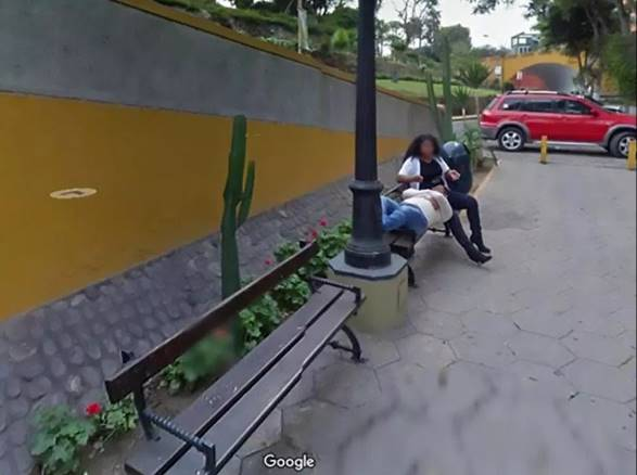 Man using Google Street View to get direction, catches his wife cheating (Photos)