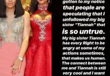 Nina denies rift with her 'big sister' Toyin Lawani, says she never unfollowed her on IG