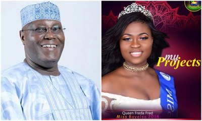 Beauty Queen gushes about Atiku's emergence as PDP's Presidential candidate