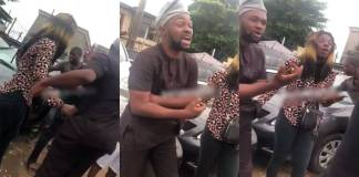 Prostitute disgraces man publicly in Lagos (Watch Video)