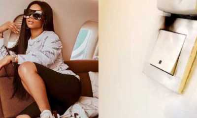 Toke Makinwa escapes being roasted by house fire (Watch Video)