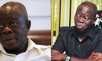 Adams Oshiomhole Returns From US, Breaks Silence On His Arrest By DSS.