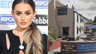 Love Island star Amber Davies 'taken to hospital after collapsing amid fears her drink had been spiked'