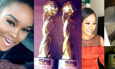 BBNaija: Cee-c sweeps away double awards at the social media awards