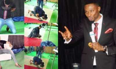 South African-based Pastor makes members lick his shoes to receive miracle money