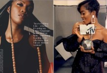 Sensational Tiwa Savage Features In British Vogue Magazine Latest Issue