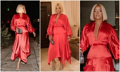 Toke Makinwa looks stunning on her 34th birthday dinner Photos
