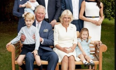 Prince Charles is pictured with his entire dynasty to celebrate his 70th birthday