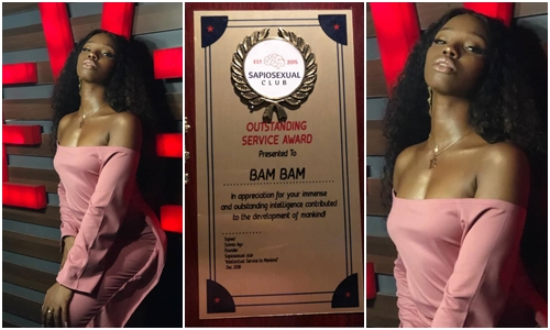 BamBam poses sexy after receiving award at SapioSexual Club