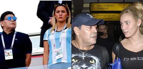 Diego Maradona's young girlfriend throws him out of the house he bought for her