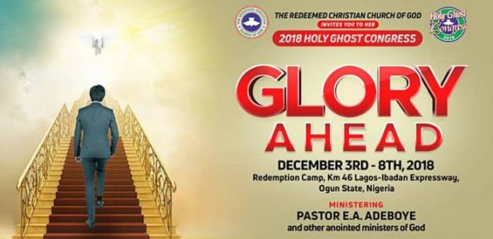 RCCG HOLY GHOST CONGRESS 2018 - GLORY AHEAD DAY 3 EVENING SESSION