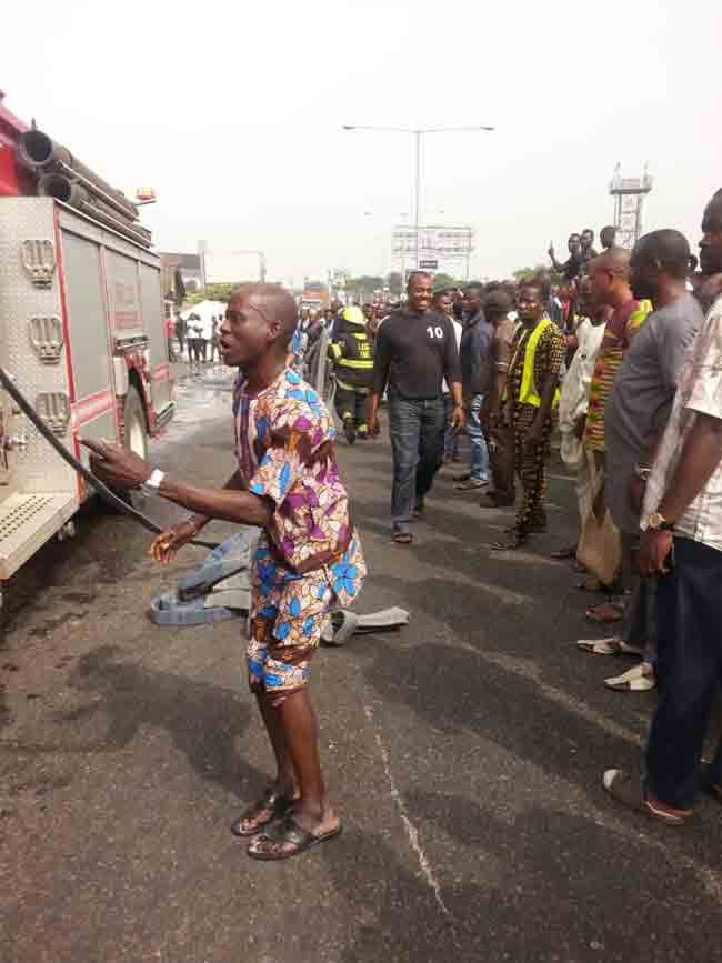 Petrol Tanker Explodes At Filling Station Near Lagos Airport