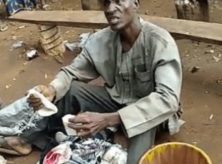 Pastor nabbed with bag filled with female pants and bra in Edo state.
