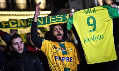 Fans hold a vigil in France for Argentine striker Emiliano Sala after his plane vanishes over Channel Islands