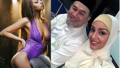 Marriage between pregnant Russian model, 25, and Malaysian king, 49, who abdicated his throne to marry to her 'is on the rocks'.