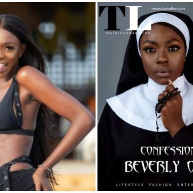 Beverly Osu speaks on death threats she received over racy nun pictures