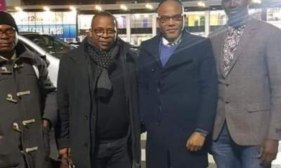 Nnamdi Kanu arrives United Kingdom (Photos)
