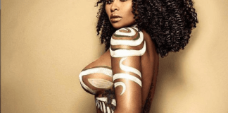 Blac Chyna strips completely n9ked with just body paint covering her n!pples (18+photo)