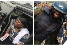 "Video: Police Confront Teni For Bragging About Slapping Police In Her Song According to a video posted online by popular singer, Teniola Apata, she was stopped by the police and they confronted her for one of the lyrics in her song, Case, concerning the police. According to the Lyrics that says ""I fit slap police for your case"", the police jokingly asked if she was the one who said she wanted to slap police. Meanwhile Teni said she said that jokingly that what she meant was I will hug police for your case. Teni captioned the video with, I change am ohh!!!!!! 😂😂 I hug police for Your Case!! Warri way"". Watch Video below."