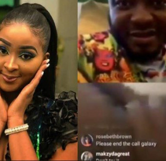 Shocking: Actress, Etinosa goes completely naked on MC Galaxy's Instagram live video, says 'Toyin Lawani is my inspiration' (Video 18+)