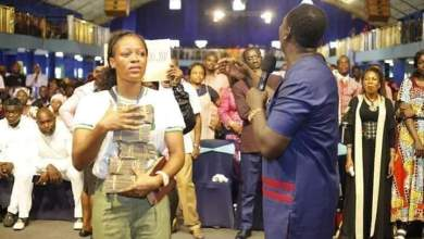 Stephanie Idolor receives 2 million naira reward from Prophet Jeremiah for success' viral video (Watch)