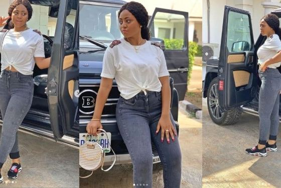 Actress Regina Daniels takes delivery of her new Brabus