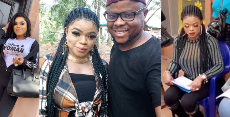 Bobrisky caught without filters And breast shifted to one side on movie set