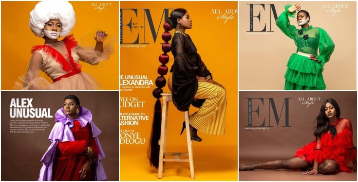 BBNaija star Alex Unusual Covers Exquisite Magazine's Latest Issue