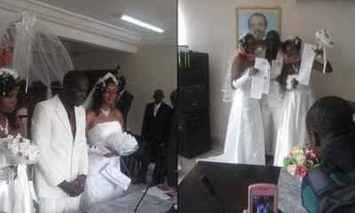 Man weds two wives same time in a church in Abia state (Photos)