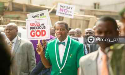 Pastor Adeboye leads protest, demands overhaul of security framework