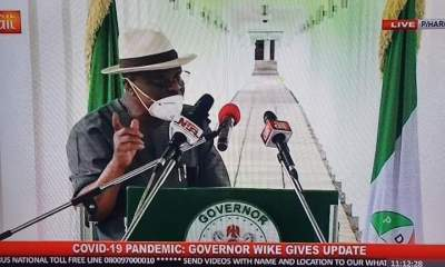 Highlights of Gov. Nyesom Wike's Speech During His COVID-19 Press Briefing
