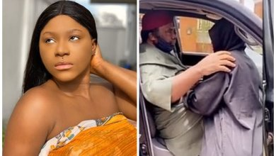 Destiny Etiko Cries Uncontrollably As Veteran Actor, Pete Edochie Visits Her After Her Father's Death