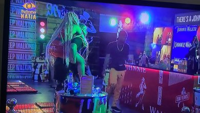 BBNaija 2020: Kiddwaya carries Erica on his back, kisses her after the party (video)