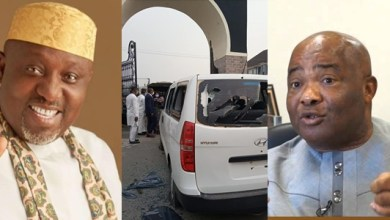 Uzodinma vs Okorocha: Bullets rain in the air as thugs and gov's aides storm Royal Spring Palm (Video & Photos)