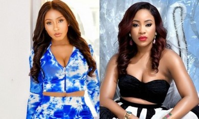 Erica and Mercy Eke share good vibes as they Link-up at a Salon