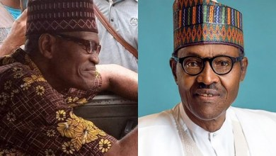 Nigerians react as Buhari lookalike spotted in Lagos (Photos)