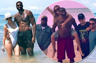 Hot Khloe Kardashian gets soaks up the sun with boyfriend Tristan Thompson 3