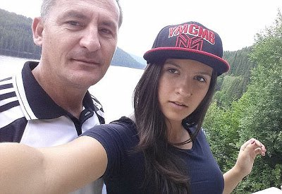 18-year-old Romanian teenager, Aleexandra Kefren with Dad