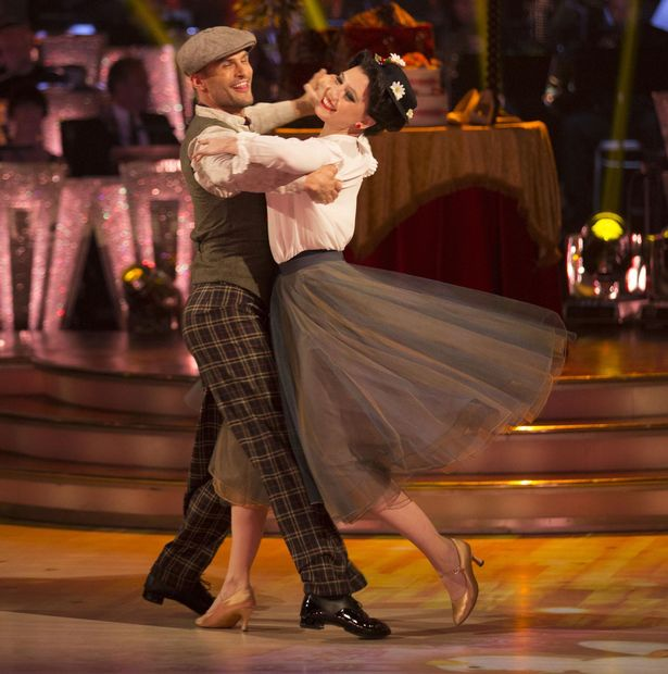 APRIL-08-Daisy-Lowe-with-her-dance-partner-Aljaz-Skorjanec