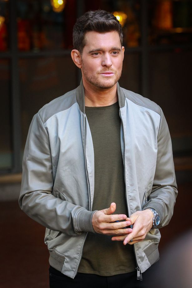 Singer-Michael-Buble-seen-leaving-his-hotel-in-Central-London-London