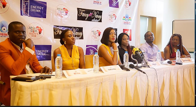 Chika Ike looks stunning in yellow for African Diva press conference