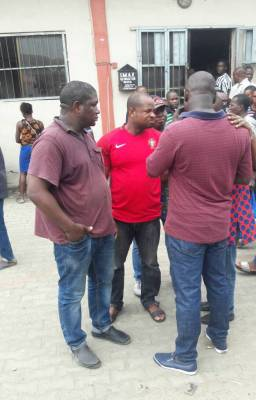See photos of suspected Movie Pirates running N50m illegal business arrested in Alaba
