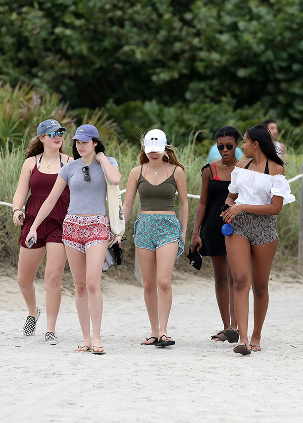 Sasha Obama on Bikini at Miami Beach