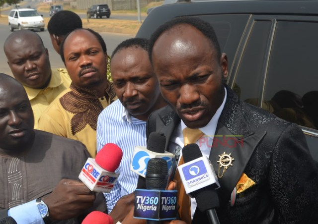 Apostle Johnson Suleman was spotted going to the DSS office