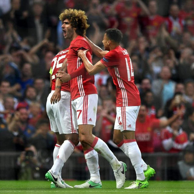 Marouane Fellaini fires Red Devils into Europa League final