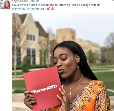 High school senior couldn't find a prom date so she took her college acceptance letter to prom as her date